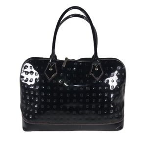 Arcadia Black Patent Leather Handbag